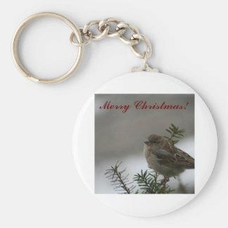 Merry Christmas Sparrow! Key Chain