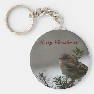 Merry Christmas Sparrow! Keychain