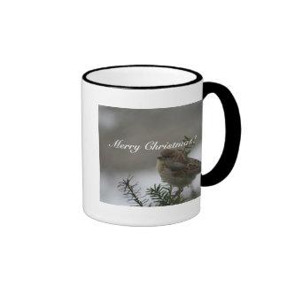Merry Christmas!  Sparrow! Ringer Mug