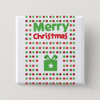 Merry Christmas spotty Pinback Button