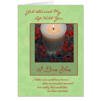 Merry Christmas Spouse Card