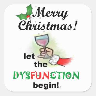 Merry Christmas! Square Sticker