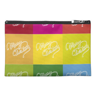 Merry Christmas Squares Travel Accessories Bags