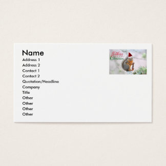 Merry Christmas Squirrel Business Card