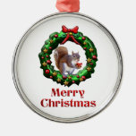 Merry Christmas Squirrel Christmas Ornaments
