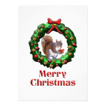 Merry Christmas Squirrel Invitation