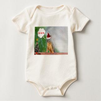Merry Christmas Squirrel Saying Ho Ho Ho! Baby Bodysuit