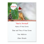 Merry Christmas Squirrel Saying Ho Ho Ho! 5x7 Paper Invitation Card