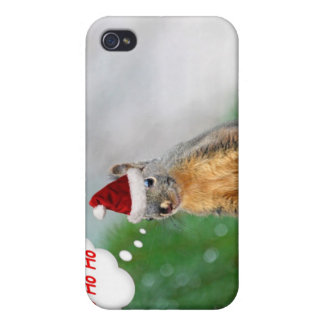 Merry Christmas Squirrel Saying Ho Ho Ho! iPhone 4/4S Cover