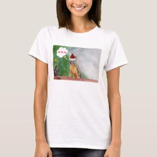 Merry Christmas Squirrel Saying Ho Ho Ho! T-Shirt