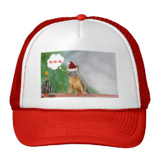 Merry Christmas Squirrel Saying Ho Ho Ho! Trucker Hat