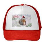 Merry Christmas Squirrel Trucker Hat
