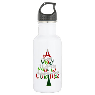 Merry Christmas Stainless Steel Water Bottle