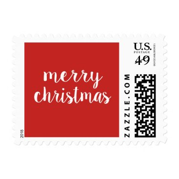 Beach Themed Merry Christmas Stamp