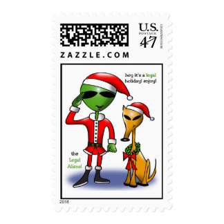 Merry Christmas Stamp by Gregory Gallo