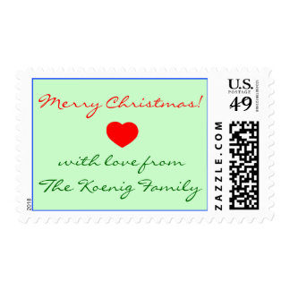 Merry Christmas Stamp Completely Customizable