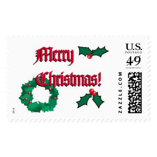 Merry Christmas Stamps (Large)