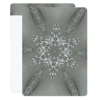 Merry Christmas Star Antique Silver Gray Card