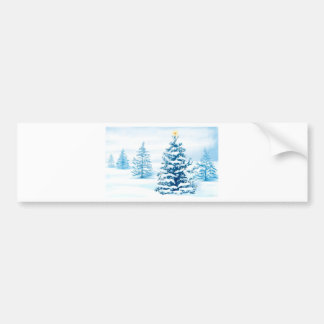 Merry Christmas Star Bumper Sticker