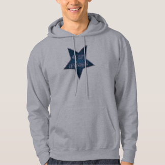 MERRY CHRISTMAS STAR by SHARON SHARPE Hooded Pullover