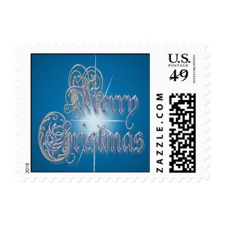 MERRY CHRISTMAS STAR by SHARON SHARPE Postage