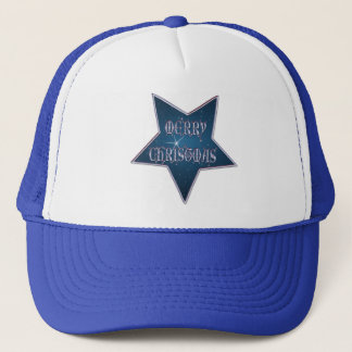MERRY CHRISTMAS STAR by SHARON SHARPE Trucker Hat