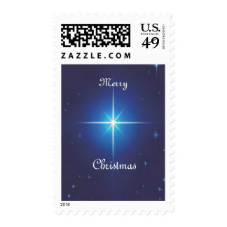 Merry Christmas Star Postage Stamps