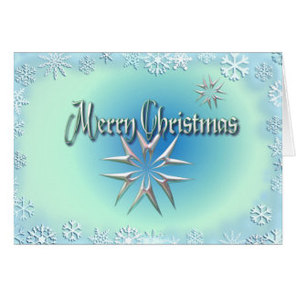 MERRY CHRISTMAS STAR & SNOWFLAKES by SHARON SHARPE Card