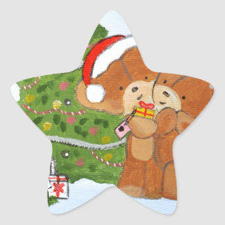 Merry Christmas Star Sticker