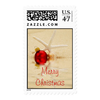Merry Christmas Starfish Postage