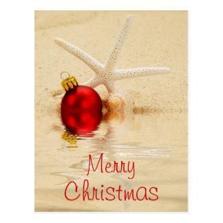 Merry Christmas Starfish Postcard