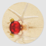 Merry Christmas Starfish Stickers