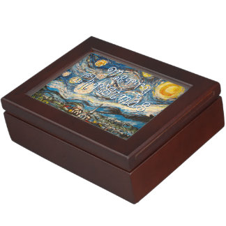Merry Christmas Starry Night after Van Gogh Memory Boxes
