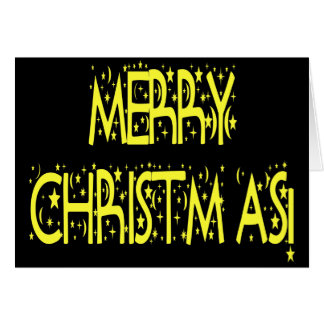 Merry Christmas Starry Night Font Card
