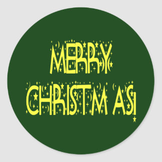 Merry Christmas Starry Night Font Sticker