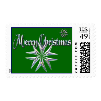 MERRY CHRISTMAS STARS by SHARON SHARPE Postage