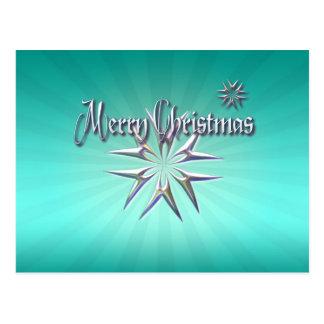 MERRY CHRISTMAS STARS by SHARON SHARPE Postcard