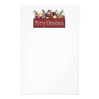 Merry Christmas Stationary Stationery Paper