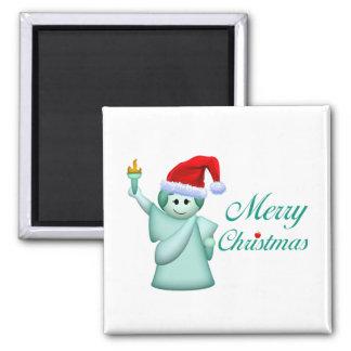 Merry Christmas Statue Of Liberty Fridge Magnets