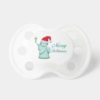 Merry Christmas Statue Of Liberty Pacifier