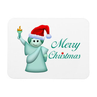 Merry Christmas Statue Of Liberty Flexible Magnets
