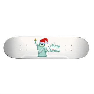 Merry Christmas Statue Of Liberty Custom Skateboard