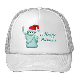 Merry Christmas Statue Of Liberty Trucker Hat