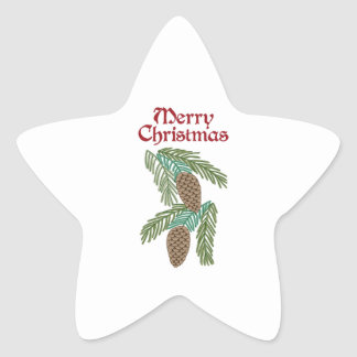 MERRY CHRISTMAS STAR STICKERS