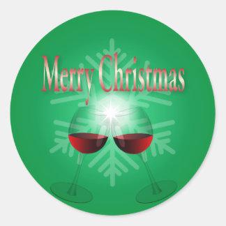 Merry Christmas Round Sticker