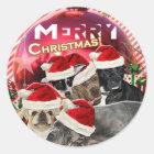 Merry Christmas Sticker (Dog Edition)