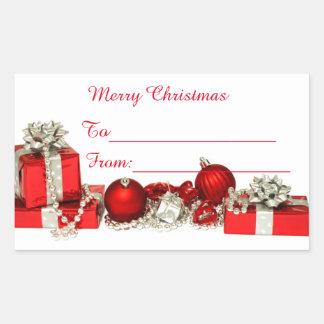 Merry Christmas Sticker label