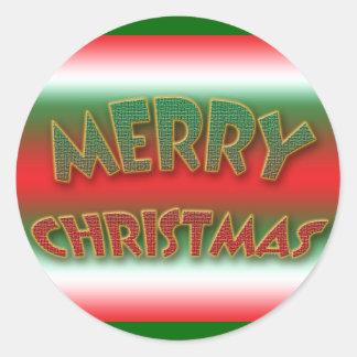 Merry Christmas stickers, xmas sayings Classic Round Sticker