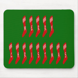 Merry Christmas Stocking Font Mouse Pad