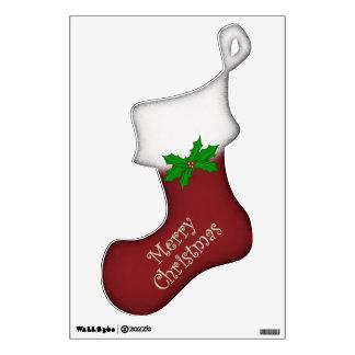 Merry Christmas Stocking Wall Decal